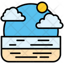Beach Holiday Recreations Icon