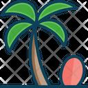Beach Cocnut Tree Tree Icon