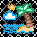 Palm Ocean View Icon