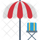 Beach Beach Umbrella Chair Icon