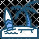 Beach Holiday Vacation Icon