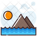 Beach Sea Sun Icon