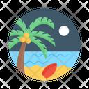 Beach Tropical Tree Sea Shore Icon