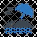 Beach Umbrella Sand Icon