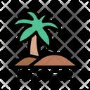 Beach River Palm Icon