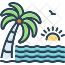 Beach Sea Water Icon