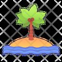 Beach Island Landscape Icon