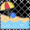 Beach Island Sea Icon