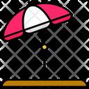 Summer Beach Umbrella Icon