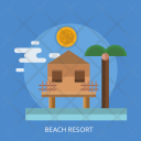 Beach Resort Stay Icon