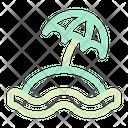 Summer Beach Seaside Waterside Icon