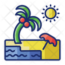 Beach Sea Palm Tree Icon