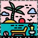 Beach Summer Holidays Icon
