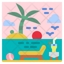 Beach Summer Holidays Icon