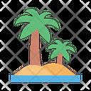Beach Sea Palm Icon
