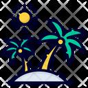Summer Sea Vacation Travel Icon