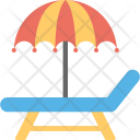 Beach Umbrella Deck Icon