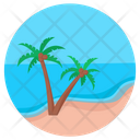 Resort Beach Tropical Place Icon