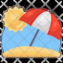 Beach Beach Side Beach Umbrella Icon