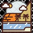 Beach Palm Summer Icon