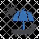 Beach Umbrella Deck Icon