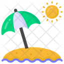 Shore Beach Seaside Icon