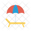 Beach Bench Umbrella Icon