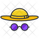 Beach Sunhat Sunglasses Icon