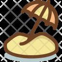 Beach Umbrella Travel Icon