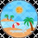 Island Beach Tropical Place Icon