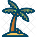 Beach Palm Coconut Icon