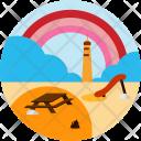 Beach Sand Water Icon
