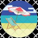 Beach Sunbath Sand Icon