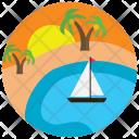 Oasis Boat Sundown Icon