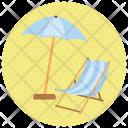 Beach Stool Parasol Icon