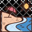 Beach Sea Vacation Icon