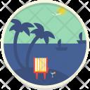 Beach Boat Coconut Icon