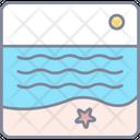 Beach Summer Vacation Icon