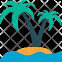 Beach Palm Tree Icon