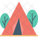 Beach Tent Camping Icon