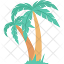 Beach Coconut Trees Icon