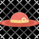 Beach Hat Headgear Icon
