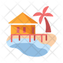 Beach Resort Hut Icon