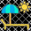 Sunbath Sunshade Umbrella Icon