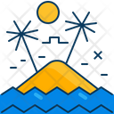 Travel Blue Beach Icon