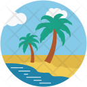 Beach Nature Palm Icon