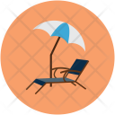 Beach Deck Chair Icon
