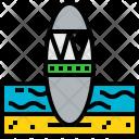 Beach Travel Tourism Icon