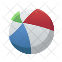 Beach Ball Summer Sunny Day Icon