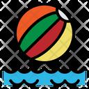 Beach Ball Summer Icon